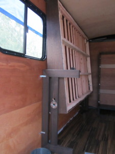 Adventure trailer unfinished dreams for Enclosed bed frame
